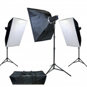 PL400 Advanced LCD Control Studio Lighting Kit - 3 Light #9448