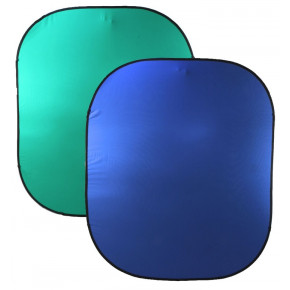 Fond de scène « pop up » double face 6 x 7pi « chroma key » (vert / bleu)