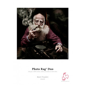 Papier Hahnemuhle photo rag duo 25 feuilles 17'' x 22''