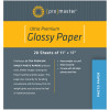 "Prpmaster Heavy-Weight Glossy Inkjet Paper 20 Sheets 11"" x 17"""