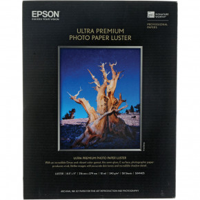 Epson Ultra Premium Photo Paper Luster 50 Sheets 8.5'' x 11''