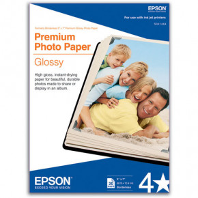 Epson Premium Photo Paper Glossy 20 Sheets 5'' x 7''