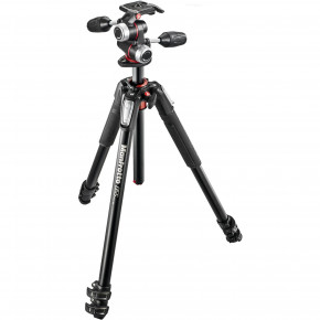 055 Kit - Aluminum 3 Section Horizontal Column Tripod and 3 Way Head #MK055XPRO3-3W