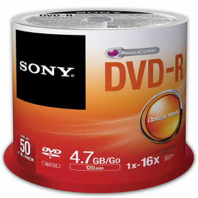 16x DVD-R 4.7GB Recordable - 50 Pack