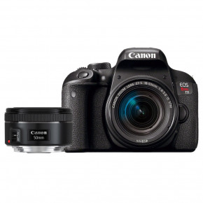 EOS Rebel T7i with 18-55mm f/4-5.6 and 50mm f/1.8 lenses