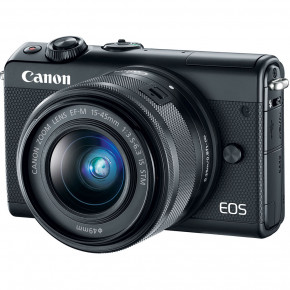 EOS M100 with EF-M 15-45mm f/3.5-6.3 IS STM Lens (Black)