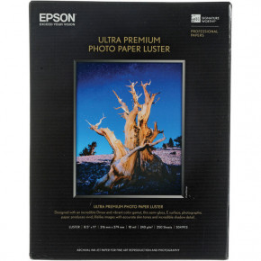 Epson Ultra Premium Photo Paper Luster 250 Sheets 8.5'' x 11'' (S041913)