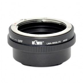 Kiwi Camera Mount Adapter for Nikon F to Fuji X with Aperture Ring