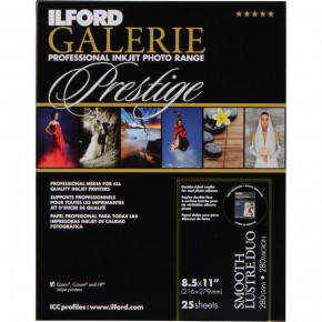 "Ilford Galerie Prestige Smooth Lustre Duo Paper 25 Sheets 8.5""x11"""