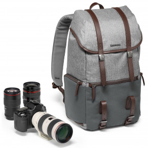 Windsor Camera and Laptop Backpack for DSLR (Gray)