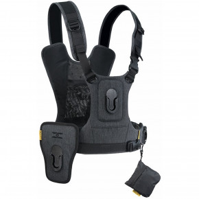 CCS G3 Camera Harness System for Two Cameras - Charcoal Grey