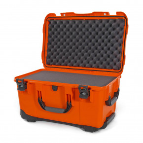 938 Wheeled Case with foam (Orange)