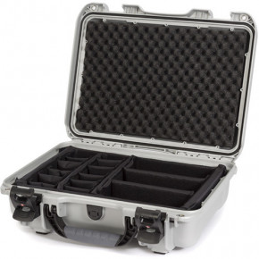 923 Professional protective case with dividers (Silver)