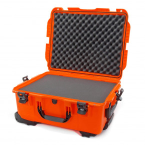 955 Wheeled Case with foam (Orange)