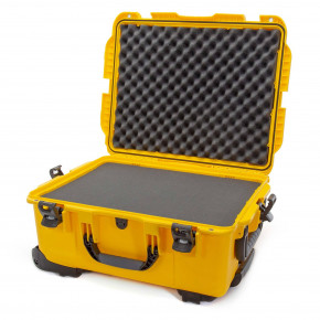 955 Wheeled Case with foam (Yellow)