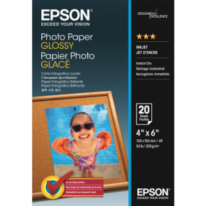 Epson Premium Photo Paper Glossy 100 Sheets 4'' x 6''