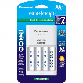 Eneloop Rechargeable AA Batteries (4) with Charger