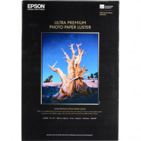Epson Ultra Premium Photo Paper Luster 50 Sheets 13'' x 19''