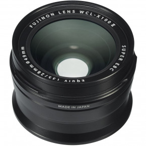 WCL-X100 II 28mm Wide Conversion Lens for for X100F (Black)